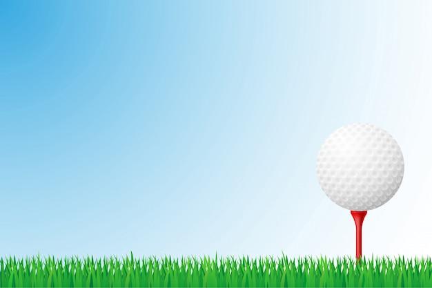 Ilustração de vetor de campo de grama de golfe
