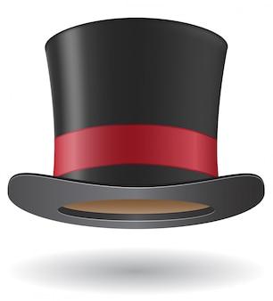 Ilustração de vetor de chapéu de cilindro