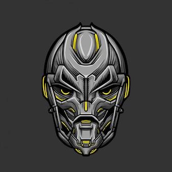 Ilustração de vetor de máscara de soldado 4