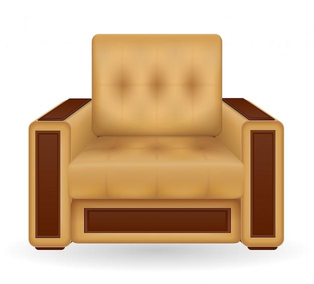 Ilustração de vetor de mobília de poltrona