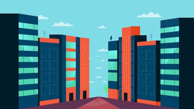 Ilustração de vetor de pacote de edifícios
