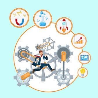 Ilustração de vetor de processo de desenvolvimento de negócios