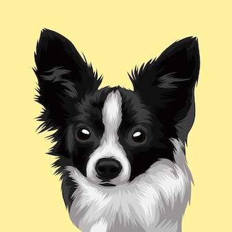 Ilustração de vetor realista de cabeça de cão