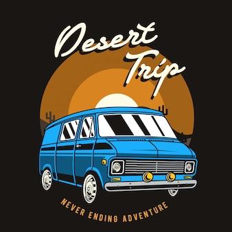 Ilustração de viagem no deserto