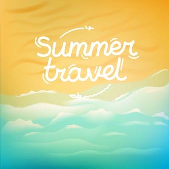 Ilustração de viagens de verão