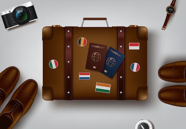 Ilustração de viagens e turismo
