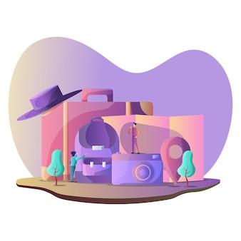 Ilustração de viagens