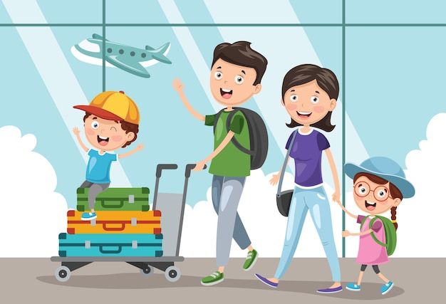 Ilustração de viajar