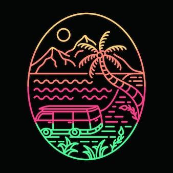 Ilustração de vibrações de verão