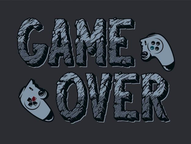 Ilustração de videogame vintage