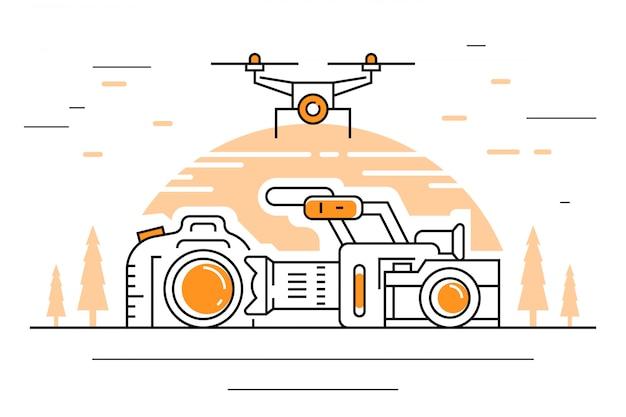 Ilustração de videografia