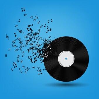 Ilustração de vinil de música