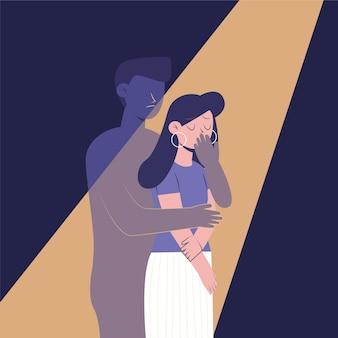 Ilustração de violência de gênero