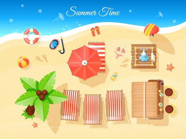 Ilustração de vista superior de horário de verão