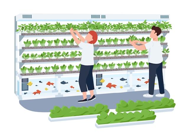 Ilustração de vitrine de hortaliças
