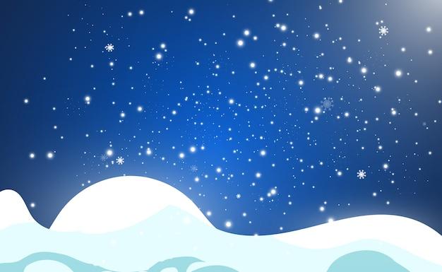 Ilustração de voar de neve em um fundo transparente. fenômeno natural de queda de neve ou nevasca.