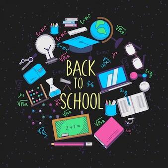 Ilustração de volta à escola com estilo dos anos 90