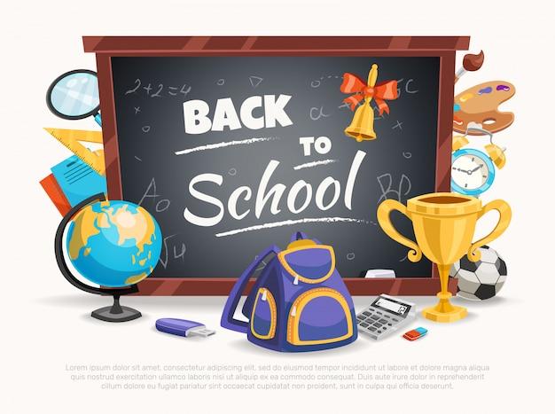 Ilustração de volta à escola
