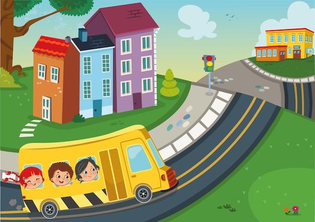 Ilustração de volta às aulas