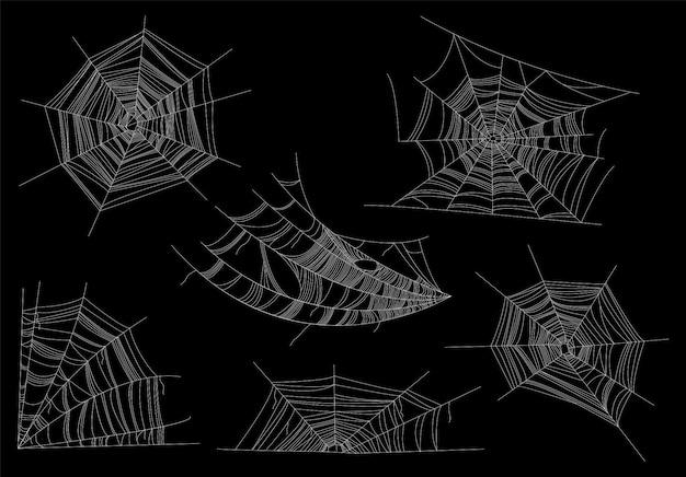 Ilustração de web de aranhas. conceito de halloween