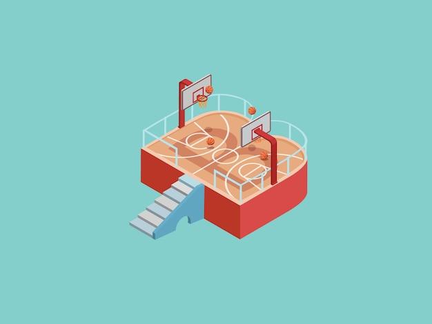 Ilustração de web de basquete