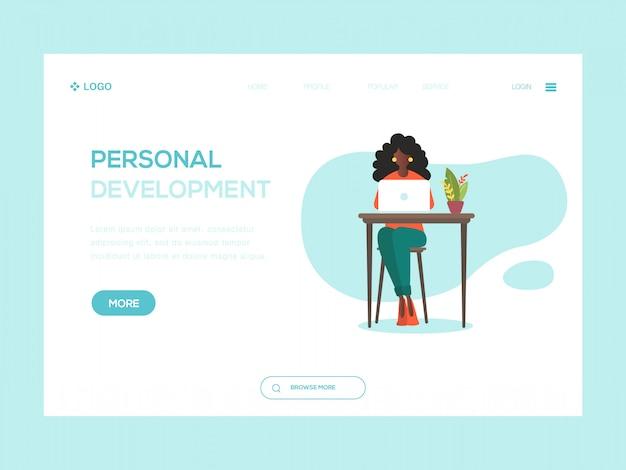 Ilustração de web de desenvolvimento pessoal