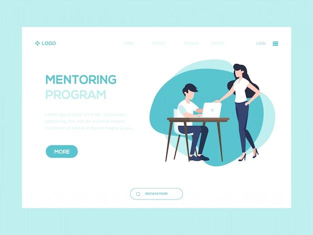 Ilustração de web de programa de tutoria