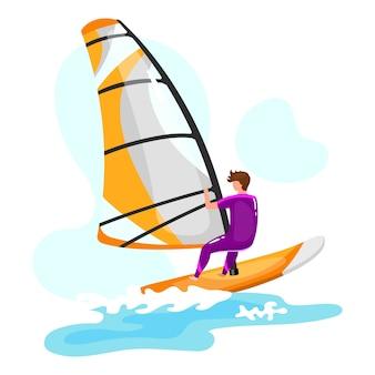 Ilustração de windsurf.