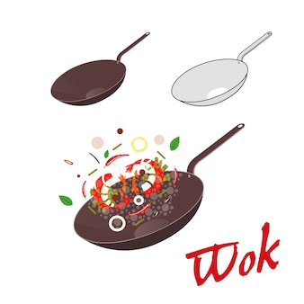 Ilustração de wok