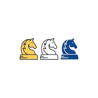 Ilustração de xadrez de cavalo