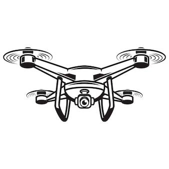 Ilustração de zangão no fundo branco. elementos para o logotipo, etiqueta, emblema, sinal. ilustração