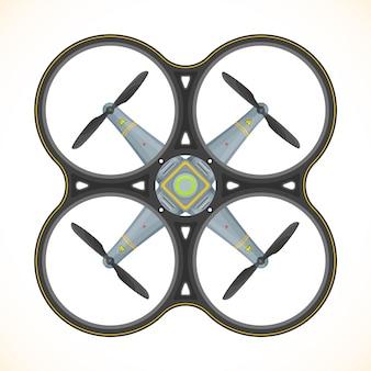 Ilustração de zangão quadcopter plana