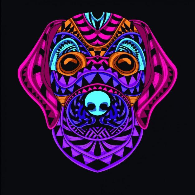 Ilustração decorativa do cão