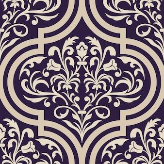 Ilustração decorativa do damasco