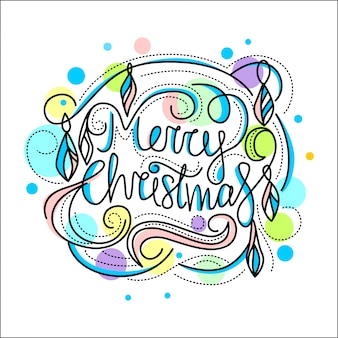 Ilustração decorativa para cartões de natal e ano novo.