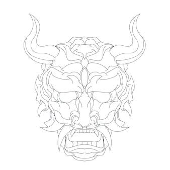Ilustração desenhada à mão de satanás