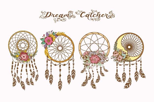 Ilustração desenhada à mão do apanhador de sonhos