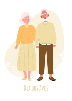 Ilustração desenhada à mão do dia dos avos