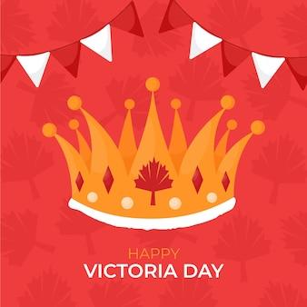 Ilustração desenhada à mão no canadian victoria day