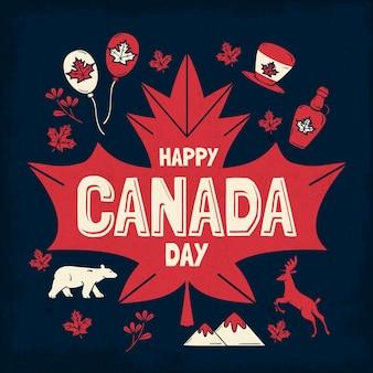 Ilustração desenhada à mão no dia do canadá