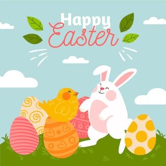 Ilustração desenhada à mão para a celebração da páscoa