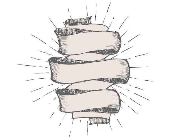 Ilustração desenhada à mão para banner de fita