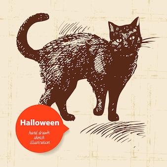 Ilustração desenhada à mão para halloween