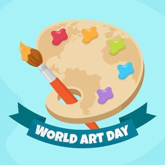 Ilustração desenhada à mão para o dia da arte mundial