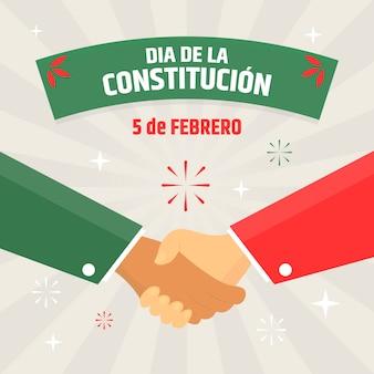 Ilustração desenhada à mão para o dia da constituição mexicana