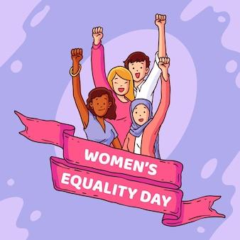Ilustração desenhada à mão para o dia da igualdade feminina