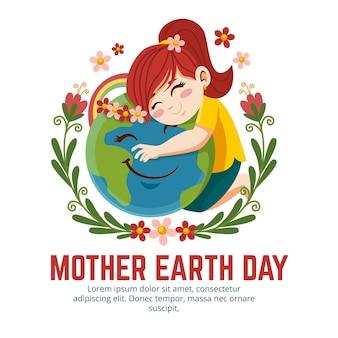 Ilustração desenhada à mão para o dia da mãe terra
