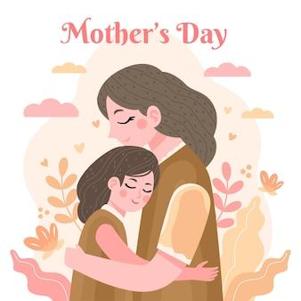 Ilustração desenhada à mão para o dia das mães