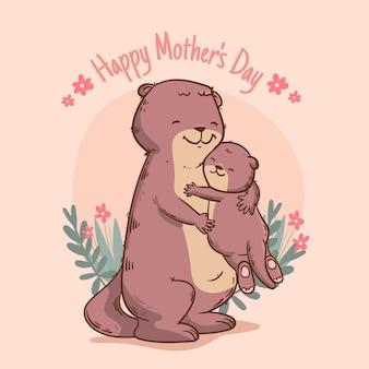 Ilustração desenhada à mão para o dia das mães Vetor grátis