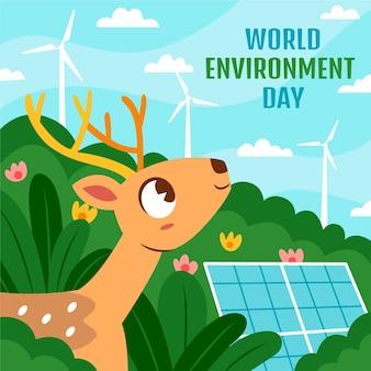 Ilustração desenhada à mão para o dia do meio ambiente mundial